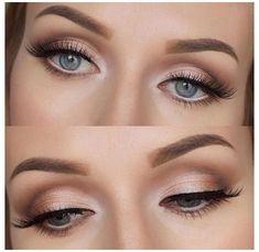 Wedding Makeup For Blue Eyes, Wedding Makeup Tips, Hair And Makeup Tips, Wedding Makeup Looks, Blue Eye Makeup, Neutral Makeup, Bridesmaid Makeup Blue Eyes, Bridesmaid Makeup Natural, Simple Wedding Makeup
