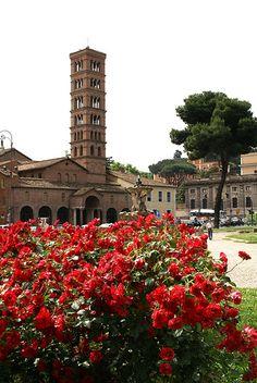 Rome, province of rome Lazio region, italy Piazza Bocca della Verità, Santa Maria in Cosmedin