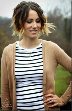 Wavy ombre short hair