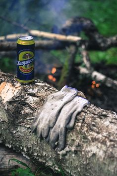 #Beer, #gloves, #bonfire, #nature, #forest, #hiking, #adventures, #Russia, #SothUral, #Taganay, #menswork