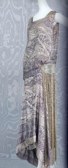 """Liberty & Co., which opened a branch store in Paris from 1889 to 1932, was known as the center of Japonism and subsequent Arts and Crafts movements in London. There were two types of labels used by Liberty & Co.: 'London and Paris' or 'London.' The 'Paris' label was attached to this dress. Paul Poiret also used the textile."" from Fashion: A History from the 18th to the 20th Century (book), by Taschen, via Happy Holliedays blog"