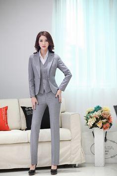 Aliexpress.com : Buy Elegant 2015 Womens Business Suit Formal Office Suit 3 PCS Set Women`s Blazer Jacekt Coat+ Vest + Pants Office Uniform Design from Reliable suit linen suppliers on BuyMallHere | Alibaba Group