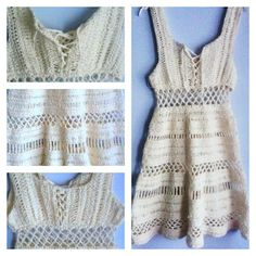cute crochet dress/beach cover-up - free instructions in english below (for when i finally learn to crochet well)