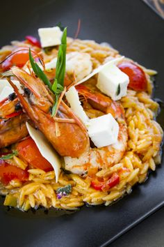 Shrimps with pasta