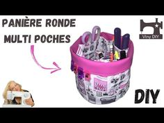 Coudre une Panière Ronde Multi-poches - YouTube Plastic Laundry Basket, Diy, Hampers, Tote Purse, Pockets, Sewing, Bags, Bricolage, Do It Yourself