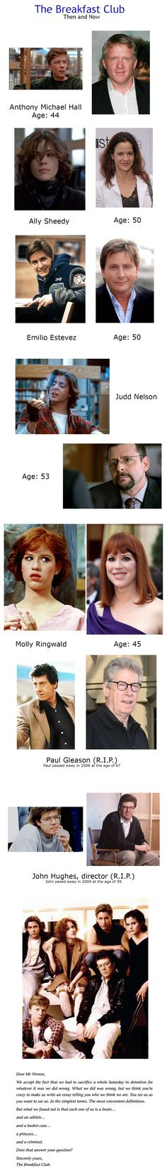 The Breakfast Club - Then and Now (OC) - Imgur