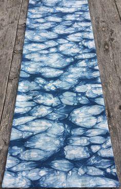 Indigo Dyed Tableware Table Runner by CapeCodShibori on Etsy