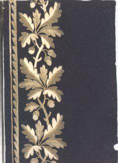 Oak Leaf and Acorn Border I Gold Embroidery