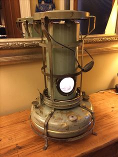 Upcycled paraffin lamp