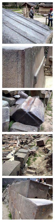 "Ancient pre-Incan ""molded stone"" granite found at Ollantaytambo, Peru"