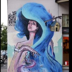 Bulk of a 'purple haze' mural by @mr_piskv in Rome #streetart