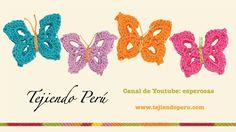 Mariposas en crochet (+lista de reproducción)