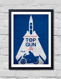 Tony Scott Minimalist Movie Poster Top Gun by POSTERSHOT on Etsy