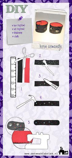 TUTORIAL: diy leather bracelet - www.detweakfabriek.nl