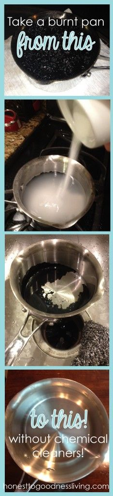 How to Clean Burnt Pan without Chemicals