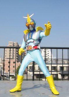 This is a photo of Seajetter Kaito. A local tokusatsu hero from Ishinomaki, Japan. Created by Shotaro Ishinomori.