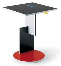 Container day! A brightly lacquered Gerrit Rietveld Schroeder Table came in today. #tabledesign #mobilierdesign #table