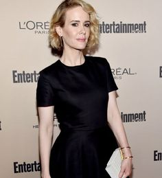 The elegant Sarah Paulson wore our Gold Long Line Earrings and Long Slim Bond Cuff to the Entertainment Weekly Pre-Emmy Party. Styled by the amazing Karla Welch.✨ #sarahpaulson #emmys #ahs #americanhorrorstory #entertainmentweekly #gold #lineearrings #bond #cuff #jewelry #rachelkatzjewelry www.rachelkatzjewelry.com
