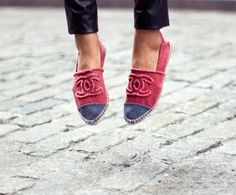 I'd wear flats if they were Chanel, too. The Chic Motif, from Autumn Our Way in the August Issue.