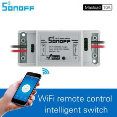 Sonoff Smart Remote Control Wireless Switch Universal Module Timer Wifi Switch Smart Home Controller Via IOS Android Home Technology, Technology Gadgets, Tech Gadgets, Smart Home Control, Electrical Projects, Smart Home Automation, Arduino, Consumer Electronics, Wifi