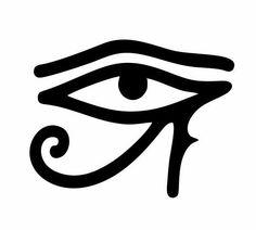 Autocollant sticker egypte antique ancienne egyptien faucon amulette or macbook