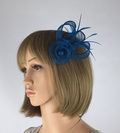 Your place to buy and sell all things handmade Occasion Hats, Special Occasion, Blue Fascinator, Brooch Corsage, Hair Grips, Fancy Hats, Hair Decorations, Fascinators, Hair Accessory