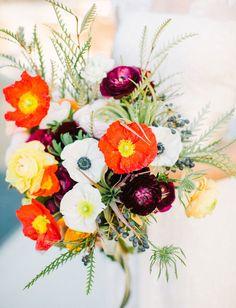 poppy + anemone bouquet