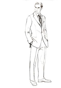 Men's Fashion Illustration by Alena Lavdovskaya
