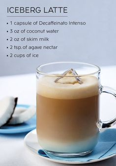 This Iceberg Latte recipe is so much more than your classic espresso drink. The delicate mixture of agave nectar, coconut water, and rich notes of coffee are what make it truly something special. Enjoy this Nespresso Iced Coffee recipe as an afternoon pick-me-up!