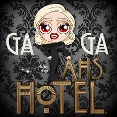 Chibi Gaga - American Horror Story Hotel 3 by VictorGago