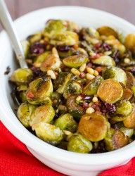 Brussels Sprouts with Pancetta, Cranberries - add 4 Tbls capers and use fresh cranberries (or a mix of fresh/dried)