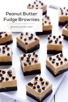 Peanut Butter Fudge Brownies | Gimme Some Oven