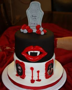 This cake was made for a True Blood themed Bachelorette Party.