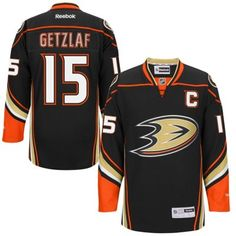 Weitere Wintersportarten NHL ANAHEIM DUCKS Ryan Getzlaf Nr 15 Eishockey Name Number T-Shirt black C