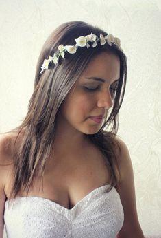 Calla Lilies Floral crown Wedding Flower Crown by rosesandlemons