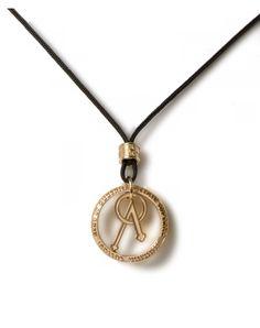 Collana #Tuum L'Angelo Ciondolo Argento T-Gold Con Corda TEAB009C0DT #ororagioiellerie