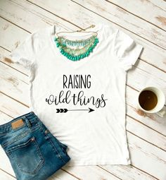Raising Wild Things Mom Life Shirt SVG and DXF EPS Cut File • Cricut • Silhouette PNG • Download File • Printable Cricut Projects• Silhouette Project Ideas By Kristin Amanda Designs
