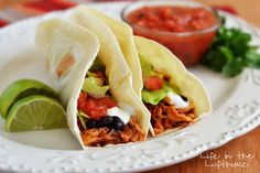 Crock Pot Chicken Tacos - Life In The Lofthouse
