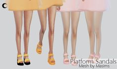 Platform Sandals at Kalewa-a • Sims 4 Updates