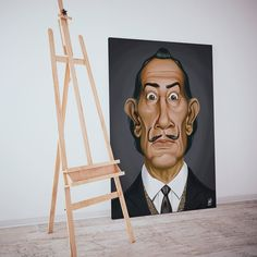 """""""Drawing is the honesty of the art. There is no possibility of cheating. It is either good or bad."""" #salvadordali #art #instagood #instaartist #instaart #illustration #fb #print #caricatures #good #artist"""