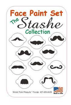 10 Piece Mustache Face Paint Set Facepaint Kit Stencils | eBay