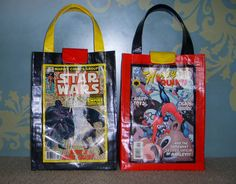 Duct Tape Bags, combined with old Graphic Covers or Book covers