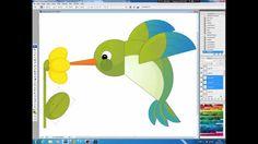 Illustrating drawing painting - cartoon humming bird Jak namalować kolibra