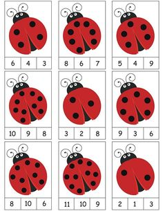 ladybug counting activity More on math and learning in general zentral-lernen.de Source by tinkerbel Counting Activities, Preschool Learning Activities, Toddler Learning, Preschool Activities, Math Games, Activity Games, Toddler Preschool, Kindergarten Math Worksheets, Maths