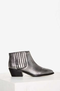 Ricki Metallic Leather Ankle Boot - Shoes