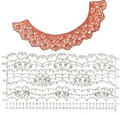 Crochet Hoodies crochet collar pattern free - Dress up your sweaters, dresses, shirts and tops with beautiful crocheted collars. These free patterns will give you many ideas for how to approach it. Crochet Collar Pattern, Col Crochet, Crochet Lace Collar, Crochet Lace Edging, Crochet Diagram, Crochet Chart, Irish Crochet, Crochet Stitches, Crochet Patterns