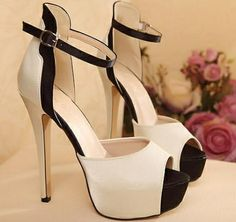 Women high heel peep toe pumps simple style CZ-5421