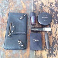 #Secret  #trip  #plane ✈ #Balenciaga  #wallet #Maccosmetics #blush #Dior #mascaraGivenchy  #myflashbackfashion