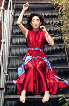 Sandra Oh, Eve, Dresses, Fashion, Vestidos, Moda, Fashion Styles, Dress, Dressers