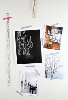 Find A Place Print | White Forest Home